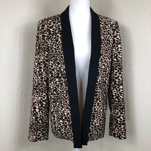 Tahari Arthur S Levine Cheetah Print Blazer